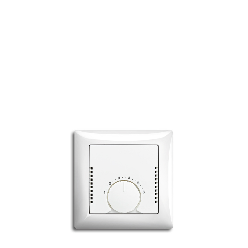 Image eines Thermostats aus der Designlinie My Home der Behrendt Gruppe