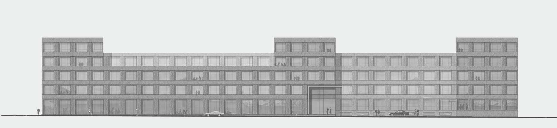 Architekturzeichnung - Diese Zeichnung zeigt ein Bauprojekt für Kapitalanleger in Hamburg Altona – KühneVision