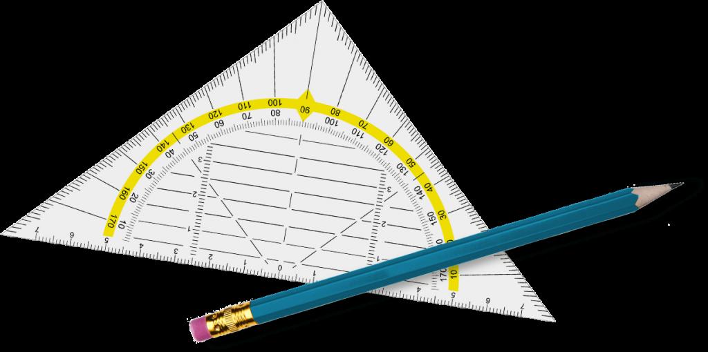 Icon mit Geodreieck und Bleistift als Hinweis zur Karriereseite