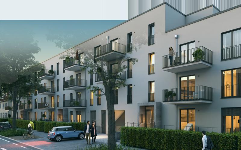 Image eines Bauvorhabens in Fuhlsbüttel als Hinweis zu der Projektseite der Behrendt Gruppe